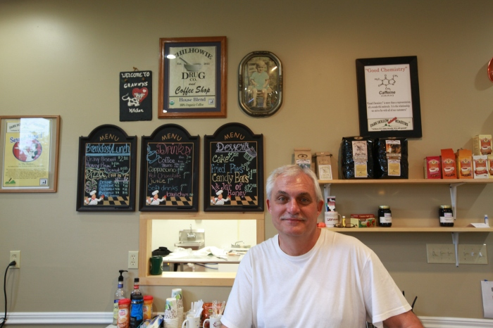 Charlie in his Coffee Shop in Chilhowie, Va