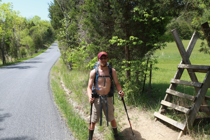 "At the intersection of the TransAm route and the AT trail, a through-hiker ""Josh"" meets a through-biker ""Mike""."
