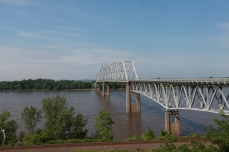 The Mississippi river and bridge at Chester
