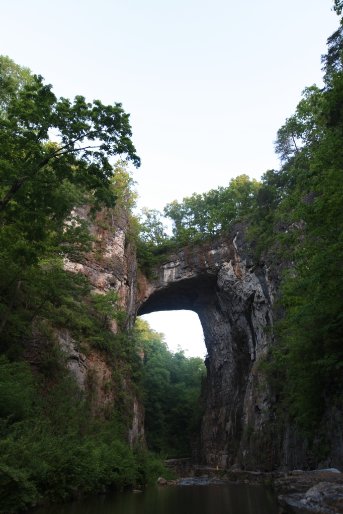 The natural limestone bridge of ... Natural Bridge, VA