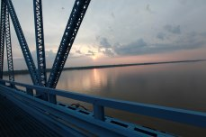 The Ohio River from The Ohio Paducah bridge.
