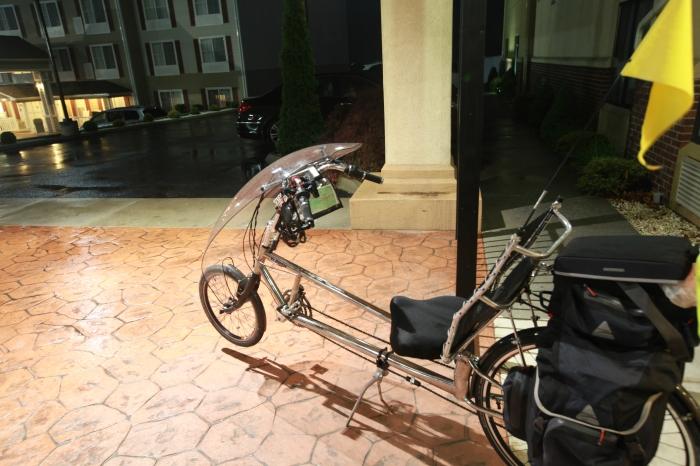 Pre Dawn Bike. Ready for the rain.