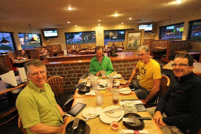 The consensus was that we ate about 15,000 calories of food between the five of us -- in Larned, KS