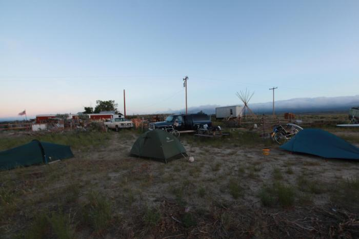 Camping at JD's in Lamont, WY