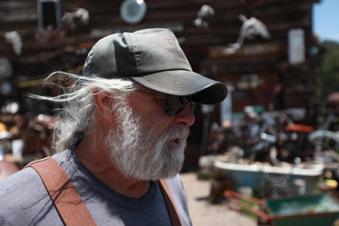 Bill, a longtime TransAm trail angel. -- Guffey, Co.