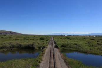 Looking back towards Dillon,MT from atop a railroad bridge