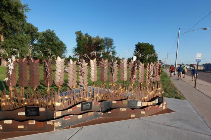 Some art on display in Scott City, KS