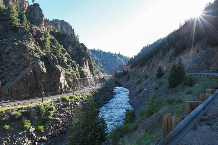 --Hot Sulphur Springs Gorge