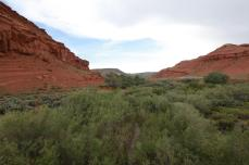 Red rock cliffs near the Wind River. --Southeast of Dubois, WY