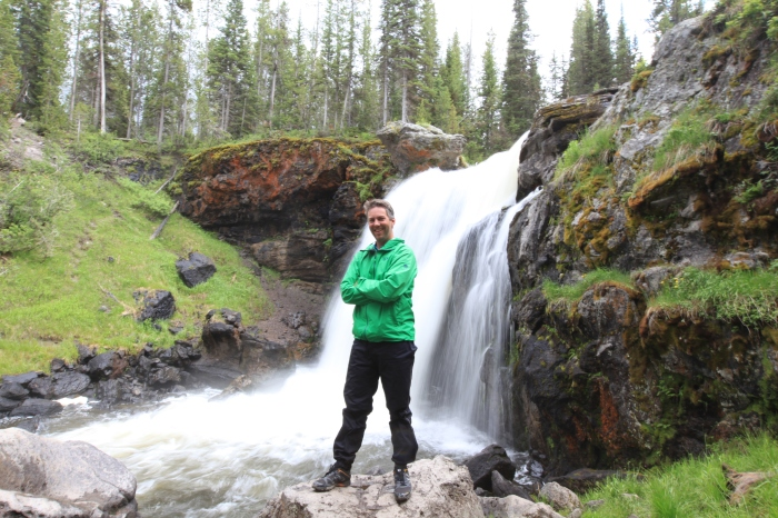 Obligatory blurred waterfall shot with Mike