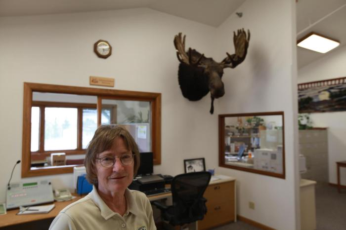 Sue helped me out at the National Forest Ranger Center -- Saratoga, WY