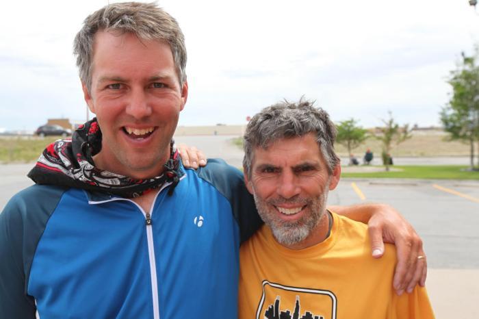 Chuck and I say goodbye --Rawlins, WY