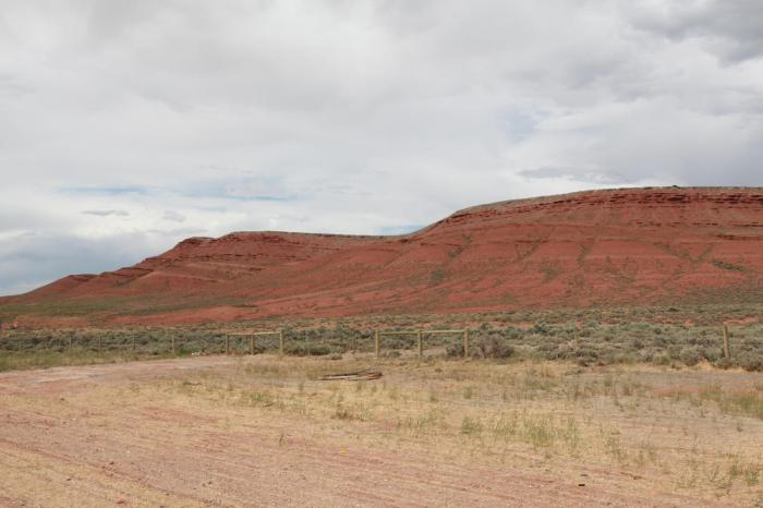 Red rock cliffs --West of Rawlins, WY