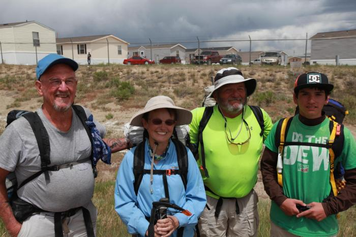 Continental Divide Hikers. -- West of Rawlins, WY