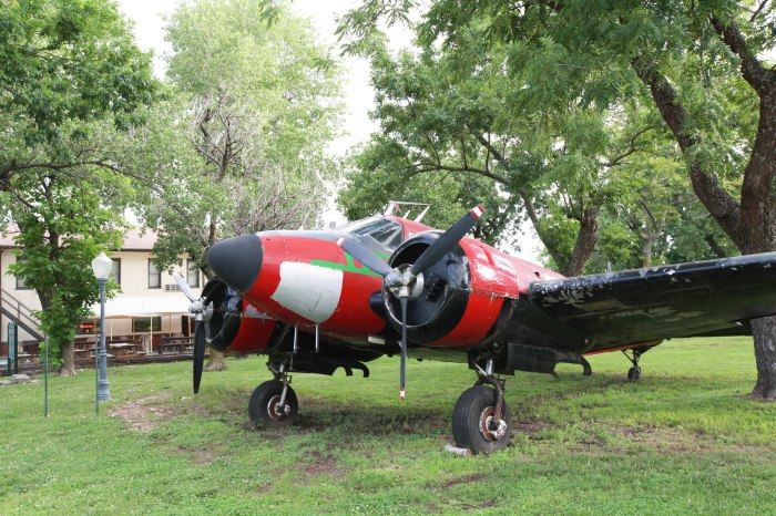 This plane landed for a stay at the Beaumont Hotel and never left. -- Beaumont,KS