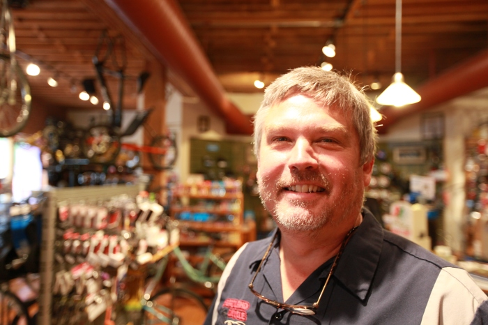 Byron from Heartland Bicycles performed a major bike transplant surgery from parts in stock in under ten minutes and only charged me $25. Amazing. If you've got a major job on the TransAm, detour to Wichita rather than waiting for Pueblo. This place has everything you need.