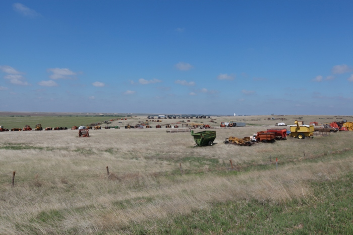 A combine graveyard -- East of Dighton, KS