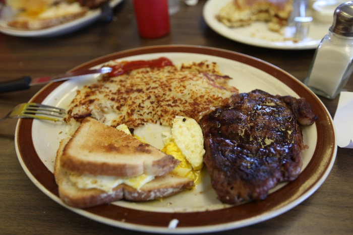 Steak and Eggs at K&M Ranchouse Restaurant -- Eads, CO
