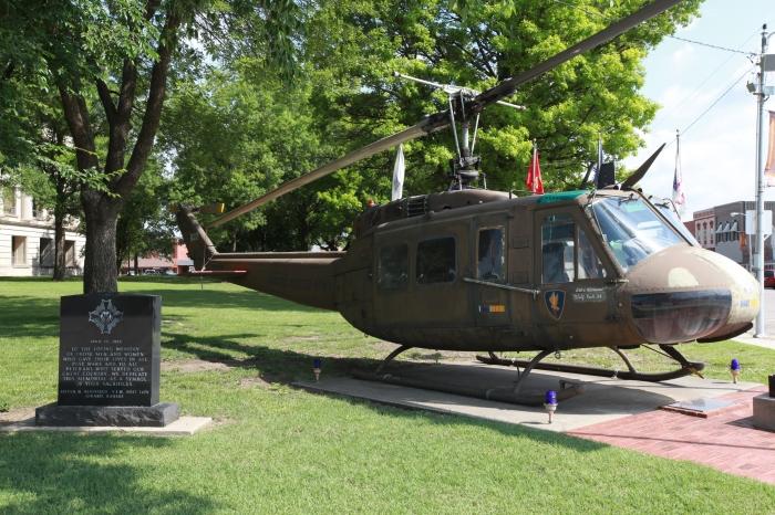 Vietnam Era UH-1 in Girard, KS. This thing had been shot down and rebuilt twice.
