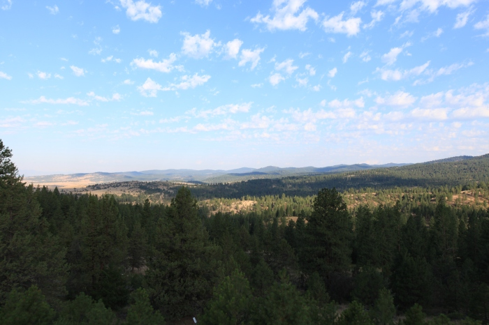 The view down to John Day Valley, Oregon.