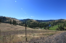 Overlooking the Clearwater River (Middle Fork) canyon. --Stites,ID.