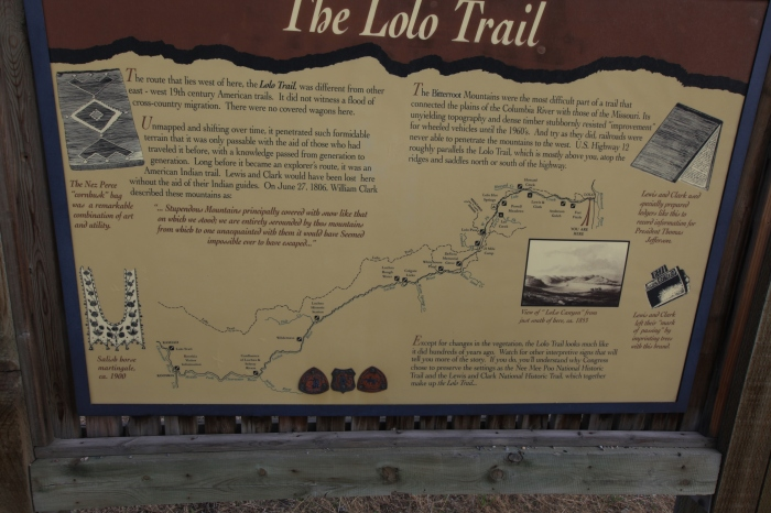 One of about a dozen signs describing how much difficulty Lewis and Clark had in this area. —Lolo, MT.