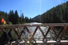 A packbridge over the Lochsa River -- Clearwater National Forest