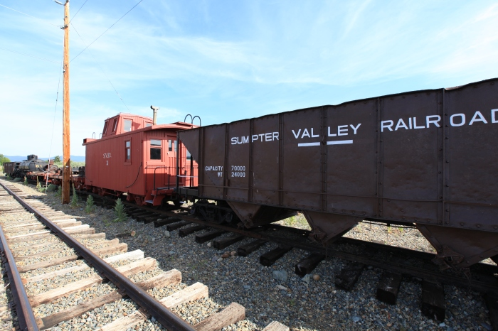 Sumpter Valley Railroad cars. --Sumpter, OR.
