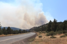 Where there's smoke there's fire. --Ochoco Pass, OR.