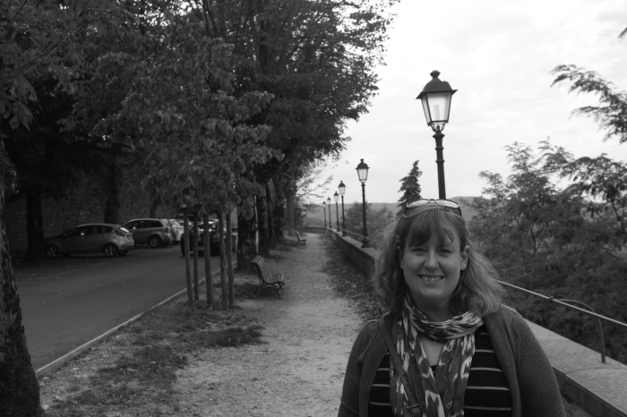 Christine at the park in Radda in Chianti