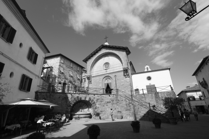 The church at Radda in Chianti