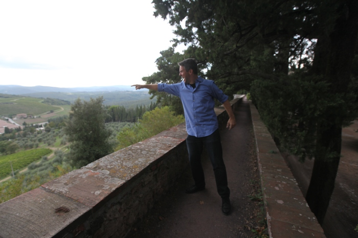 Defending the walls at Castello Brolio in Chianti