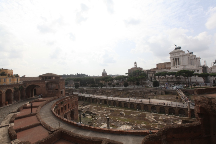 1st Century Marketplace looking out over the Imperial Forum