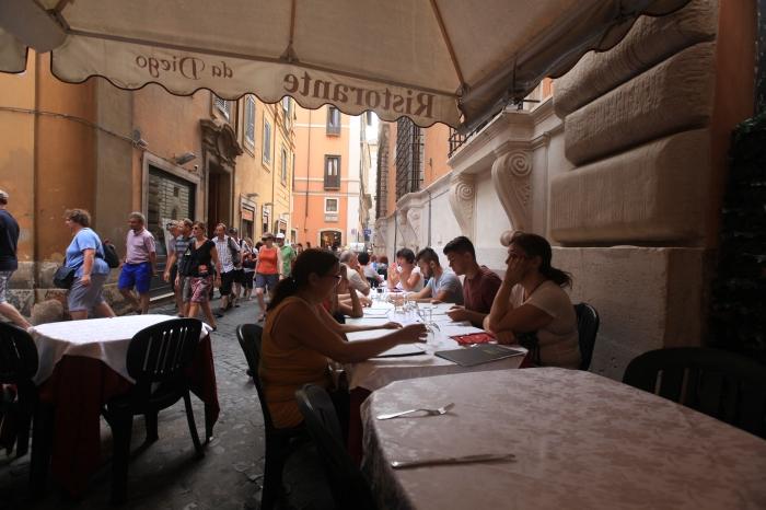 Sidewalk Cafe in Rome